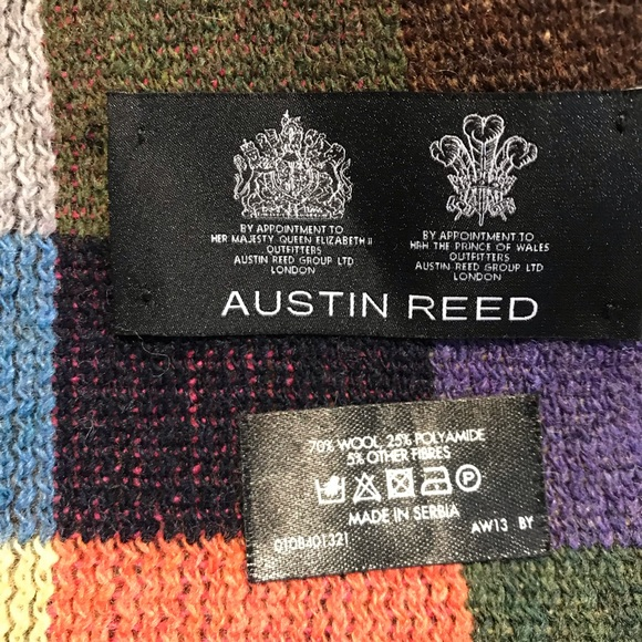 Austin Reed Accessories Austin Reed Mens Multicolored Fringed Scarf Poshmark
